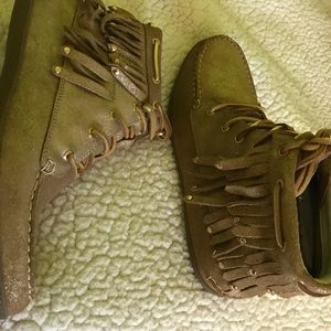 Sperry moccasin bootie